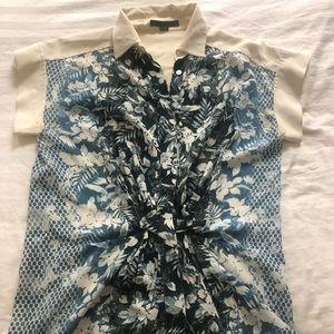 Alexander Wang Silk Printed Twist-front Blouse
